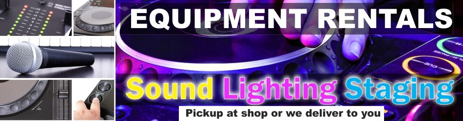 Sound - Lighting - Staging Rentals